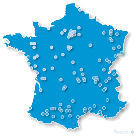 Carte implantation france sites resadia